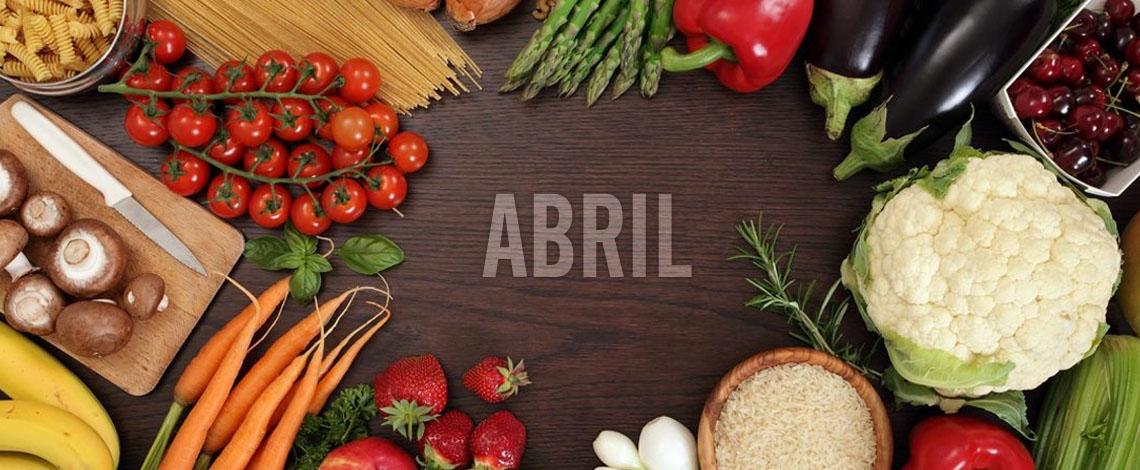 Menús de abril